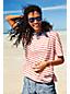Gestreiftes Jersey-Shirt mit halblangen Dolman-Ärmeln