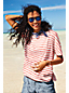 Women's Regular Elbow Sleeve Jersey Stripe Top
