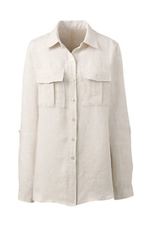Women's Pure Linen Utility Shirt