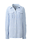 Women's Regular Striped pure Linen Utility Shirt