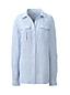 Gemustertes Leinen-Workerhemd für Damen