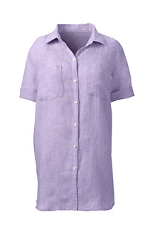 Women's  Short Sleeve Linen Shirt