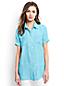 Women's Regular Short Sleeve Linen Shirt