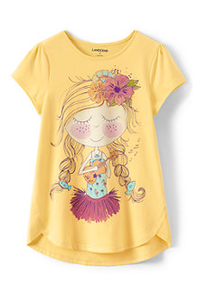 Girls' A-line Spring Graphic tee