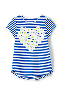 Little Girls A-line Embellished Graphic Tee