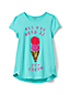 Girls A-line Embellished Graphic Tee