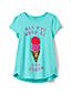 Verziertes Grafik-Shirt für große Mädchen