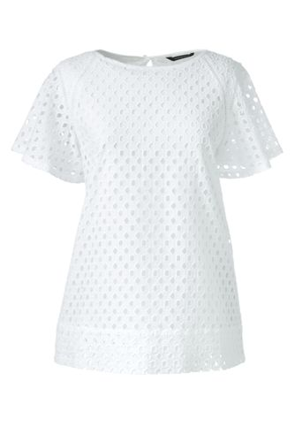 Women's Regular Broderie Anglaise Blouse