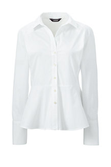 Women's Stretch Cotton Peplum Blouse