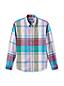La Chemise Légère en Coton Coupe Traditionnelle à Motifs, Homme Stature Standard