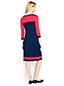 La Robe Blocs de Couleurs en Fines Mailles Stretch, Femme Stature Standard