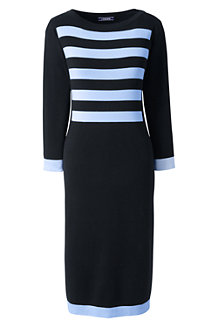 Women's Nautical Fine Gauge Knitted Dress