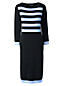 Women's Regular Nautical Fine Gauge Knitted Dress