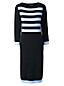 La Robe Marine en Fines Mailles Stretch, Femme Stature Standard