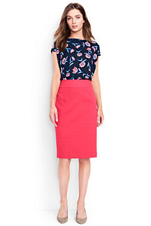 Women's Woven Textured Pencil Skirt