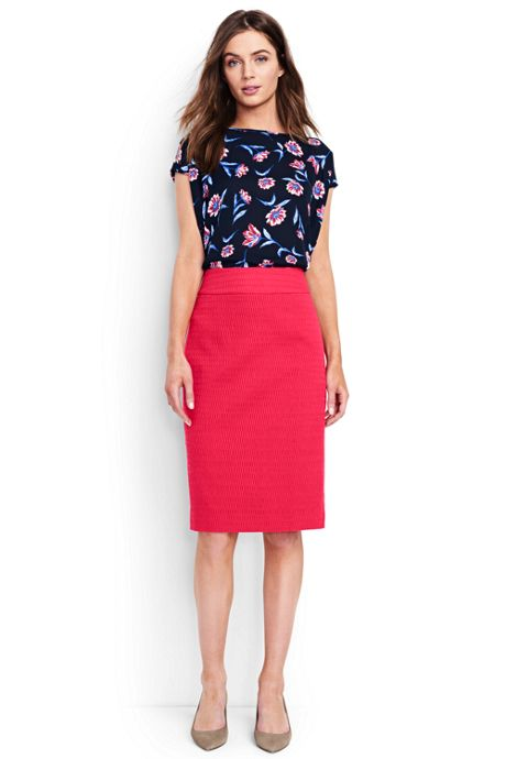 Women's Petite Woven Pencil Skirt