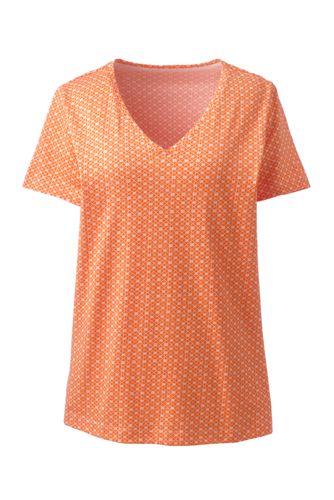c46ece2ce2ded Women s Plus Size Supima Cotton Short Sleeve V-neck Tunic Top