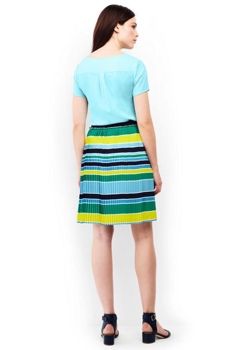 Women's Petite Woven Pleated Skirt