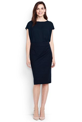 Women's Regular Jacquard Pencil Skirt