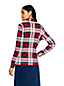 Women's Relaxed Cotton Interlock Plaid Polo Neck