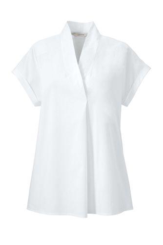 Women's Regular Cap Sleeve Tuck and Wrap Top