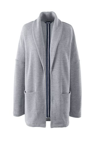 Le Cardigan Ouvert en French Terry, Femme Stature Standard