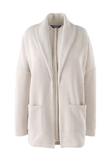 Le Cardigan Ouvert en French Terry, Femme
