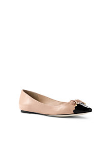 Women's Pointed Cap-toe Ballet Pumps