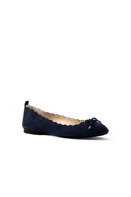 Women's Wide Scallop Ballet Flats
