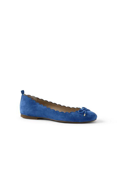 Women's Scallop Ballet Flats