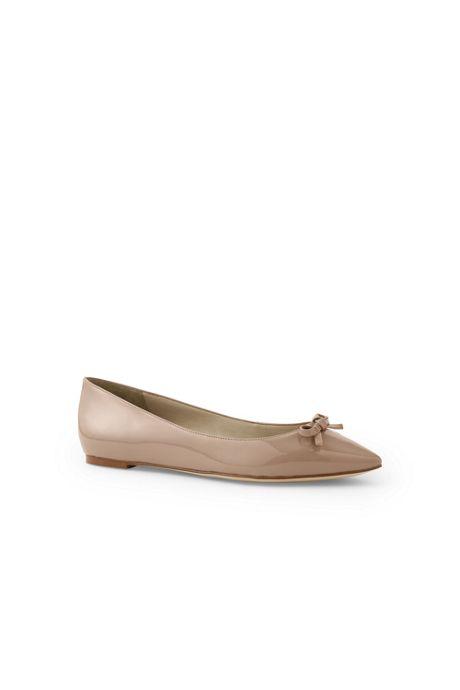 Women's Point Toe Bow Flats