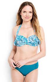 Women's Ruffle Underwire Bandeau Bikini Top