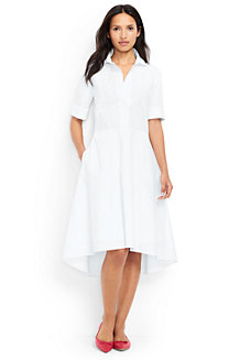 Hemdblusenkleid aus Stretch-Popelin für Damen