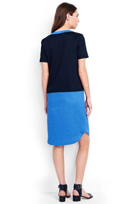 Women's Petite Short Sleeve Tunic Dress