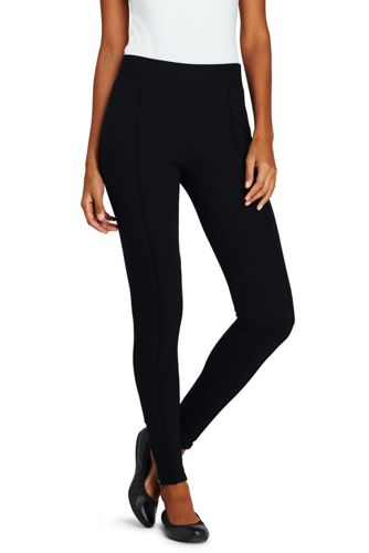women's ponte ankle zip leggings