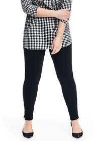Women's Plus Size Ponte Ankle Zip Leggings