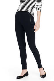 Women's Petite Ponte Zip Pocket Leggings