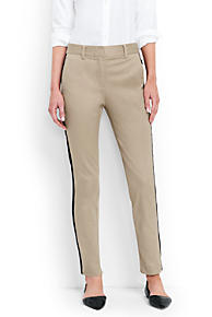 Womens Boyfriend Chinos - 10 - BROWN Lands End