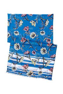 Viskoseschal mit Blütenmuster für Damen