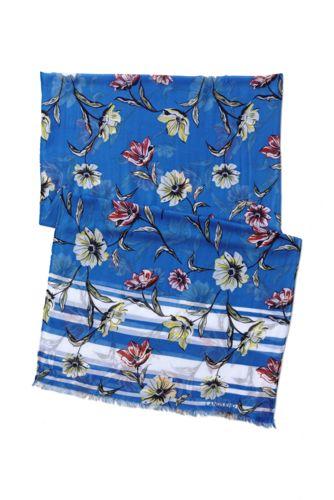 Women's Floral/Stripe Scarf