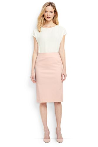 Women's Regular Basketweave Stretch Pencil Skirt