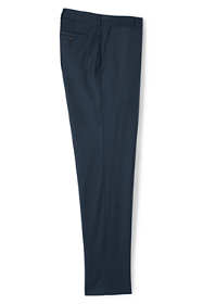 Men's Tailored Fit Plain Front Wool Gabardine Trousers