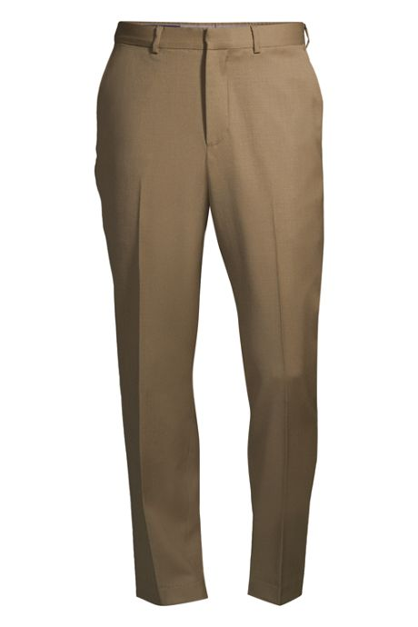 Men's Tailored Fit Wool Gabardine Dress Pants