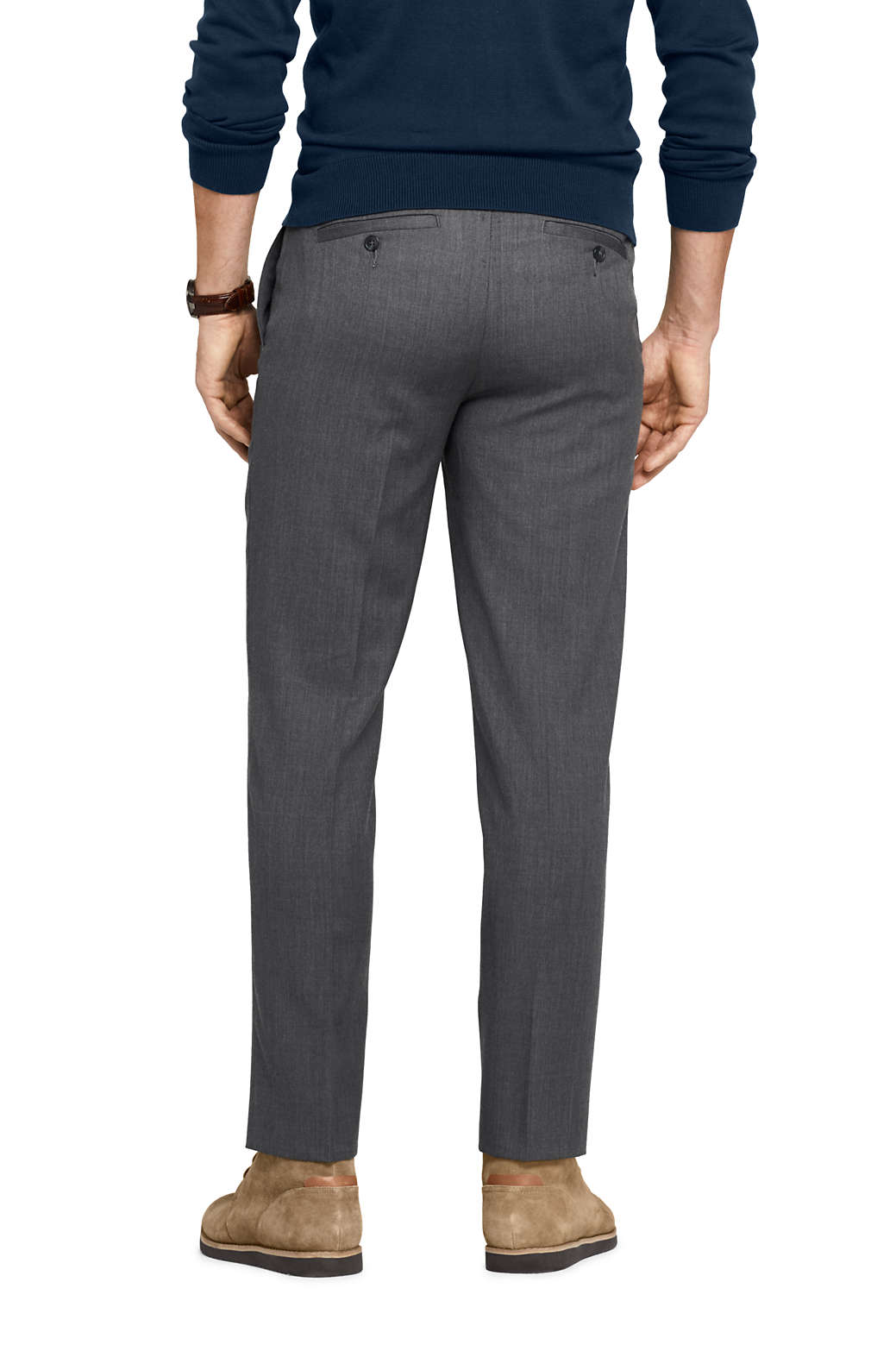 16c0190f Mens Wool Gabardine Dress Pants | Saddha