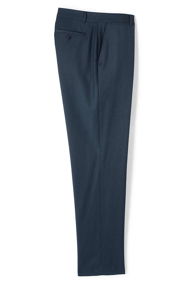 Men's Big and Tall Traditional Fit Wool Gabardine Dress Pants, Front