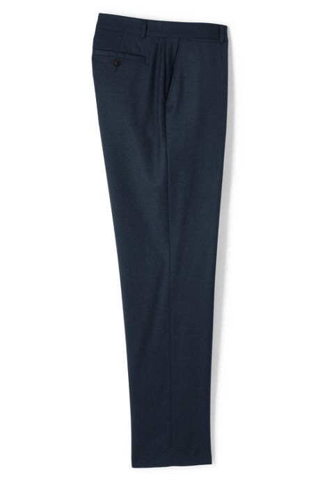 Men's Big and Tall Traditional Fit Wool Gabardine Dress Pants