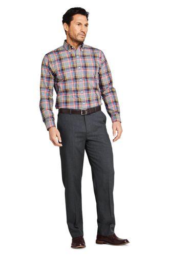 Men's Traditional Fit Wool Gabardine Dress Pants