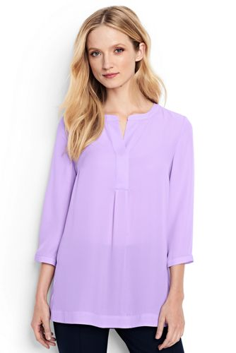 Women's Regular Popover Tunic Blouse