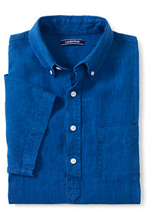 Men's  Short Sleeve Popover Linen Shirt