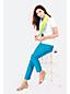 Women's Regular Mid Rise Bi-stretch Capris
